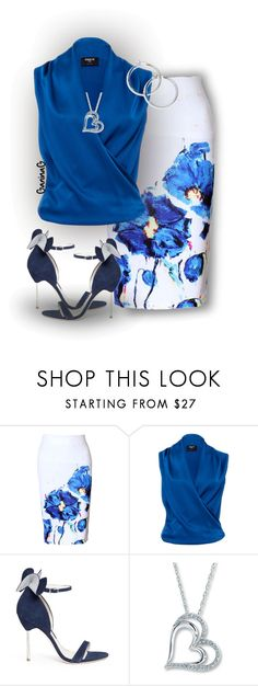 """Work Wear / Summer"" by ganing ❤ liked on Polyvore featuring WithChic, Paule Ka, Sophia Webster, WorkWear and officelook"