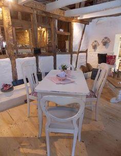 Shabby Chic antiker Tisch weiß www.casamanolo.de