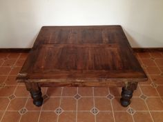 """Beautifully rustic, the Barn Wood Coffee Table makes a lovely addition to a Western, Southwest, or lodge d�cor.    Hand crafted from pine with a single drawer and tree branch base.  Measures 24"""" tall, 48"""" long, 48"""" deep.  Coordinates with Old Wood Sofa Table. Saddleblanket Home Collection coffee tables, end tables, and side tables are hand crafted from the finest materials.  Under the watchful eye of our own artisans, each piece receives meticulous attention to detail and reflects our…"""