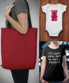 Camiseta, body de bebê e bolsa da marca independente brasileira NØT ORDINARY;