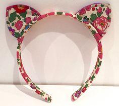 Liberty of London fabric Betsy Headband / Hairband Cat Ears