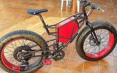 BlackRed fat  e - bike by Italian @gianluigischia -LaboratorioGh -company on Fb  bike hand - built . They have an option to use or Cromotor in rear wheel . . . . . . #italy #italia #italian #ebike #bicicleta #bici #biciclette #bicicletta #rome #bicycle#romelife#sardinia #veneziadavivere #romecity #firenze #firenze4ever #wheelie #wheeling #bike #bicycles #italygram #sportgram #zeroemission #milano #milanolife #milanfashionweek #ecology #ecologico  #fatbike #fatbikes