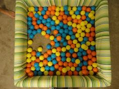 Haha! This is an awesome tutorial on how to build a ball pit for your kids! I WILL do this one day.