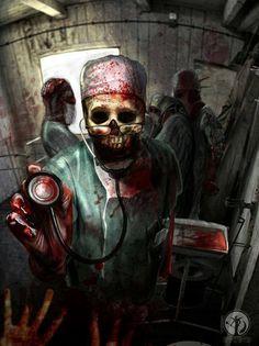 Creepy Doctor Horror Art