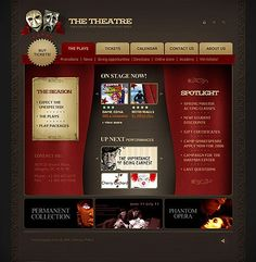 Theatre Webpage Flash Templates by Lovely Flash Templates, Website Template, Wordpress Theme, Theatre, Entertaining, Blog, Theatres, Blogging, Funny
