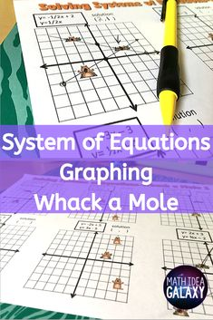 This engaging and scaffolded activity is a great way to practice graphing systems of equations at an entry level. Ideal for reluctant learners, these 2 Whack A Mole activities motivate students as they practice solving systems of equations. Graphing Activities, Math Games, Systems Of Equations, 8th Grade Math, Math Practices, Student Motivation, Math Concepts, Math Classroom, Student Learning