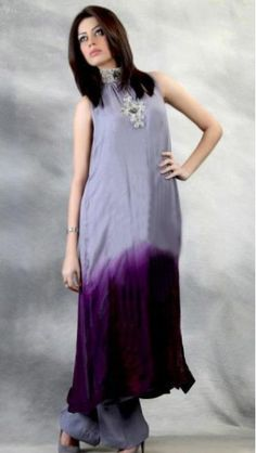 Purple/Blueberry colour Chiffon Dress