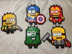 Minion Avengers. Captain America's shield was modified. Thor and Loki designs were created by my trial and error.