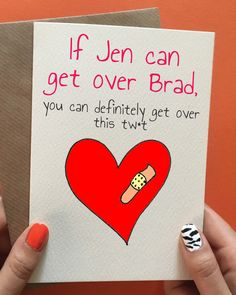 Funny break up card perfect for break up care package for your best friend