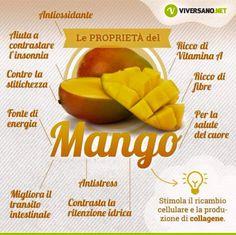 Proprietà Mango Healthy Beauty, Healthy Tips, Healthy Recipes, Healthy Food, Wellness Fitness, Health Fitness, Mango Benefits, In Natura, Nutrition Information