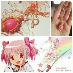 Madoka Magika colar Soul Gem pink. Aproveite o frete grátis!! Também disponível na minha loja no ELO 7: www.elo7.com.br/otakufancoisas