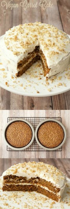 #Vegan Carrot Cake! Moist, rich and delicious! #carrotcake #cake #dessert #lovingitvegan