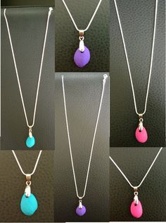 Pistachio Shell Pendants One Chain 3 Pendants by YarnRoad on Etsy Cute Jewelry, Beaded Jewelry, Unique Jewelry, Shell Pendant, Pendant Necklace, Pistachio Shells, Shell Art, Shell Crafts, Fun Crafts