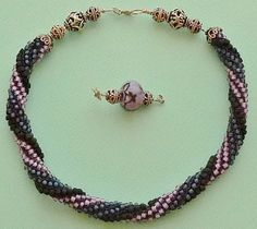 Bead crochet necklace of seed beads with by Romancingtheneck, $150.00