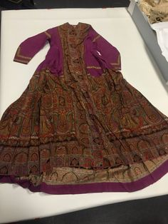 """1860s """"shawl wrapper,"""" designed to look like a paisley shawl but made from a printed wool made specifically for creating wrappers. Maryland Historical Society."""