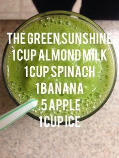 Five day smoothie cleanse, green smoothie. Day 1 - Actually my favorite smoothie.