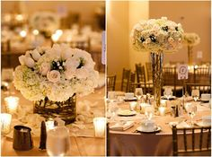 high and low center pieces!