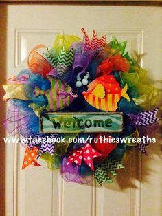 Part Mesh Wreath, part Ribbon Wreath