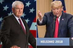 """Newt Gingrich — one of President Trump's strongest allies — said on Monday that Trump's performance alongside Vladimir Putin in Helsinki was """"the most serious mistake of his presidency."""""""