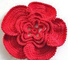 Falando de Crochet - Gráficos: FLORES DE CROCHE LINDAS (CROCHET FLOWERS)