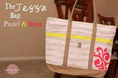 DIY Neon Fashion: DIY Clothes DIY Refashion: The Jessa Bag: Pastel  Neon
