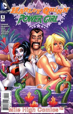 HARLEY QUINN & POWER GIRL (Series Began Issue comics in Near Mint condition. Published by DC Comics. Power Girl Comics, Power Girl Dc, Joker Und Harley, Harley Quinn Comic, Dc Comics Girls, Bd Comics, Comic Book Covers, Comic Books Art, Book Art