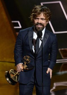 Pin for Later: The Game of Thrones Cast Goofs Off on Their Big Emmys Night Peter Dinklage Game Of Thrones Cast, Billboard Magazine, Red Carpet, Photo Galleries, Formal, Celebrities, Night, Fashion, Supporting Actor