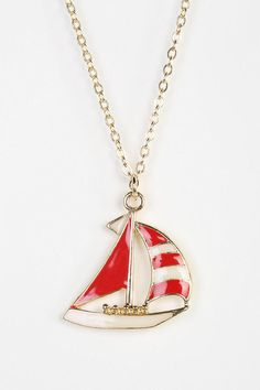 Sailboat Necklace #urbanoutfitters