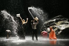 "Dance ""Full Moon"" choreographed by Pina Bausch. Danced by Wuppental Tantztheater.    ""Dance, Dance, otherwise we are lost""                          Pina Bausch"