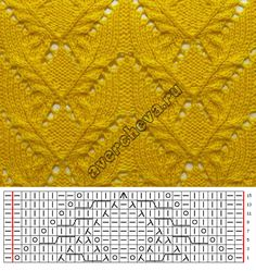 Free Knitting Pattern for Easy Jordan Baby Blanket - This easy blanket is knit w.Ravelry: Cedar Point pattern by Espace Tricot Sidney Crafts: Modinh Crochet Mittens Pattern, Lace Knitting Patterns, Knitting Stiches, Knitting Charts, Lace Patterns, Hand Knitting, Stitch Patterns, Pattern Ideas, Knitting Designs