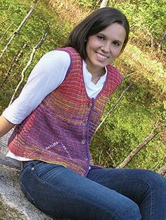 NobleKnits.com - Knit One Crochet Too Ty-Dy Faux Mitered Vest Knitting Pattern 1864, $5.95 (http://www.nobleknits.com/knit-one-crochet-too-ty-dy-faux-mitered-vest-knitting-pattern-1864/?utm_source=NobleKnits Yarn Shop