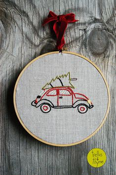 Relive the memories of cold December evenings at the Christmas tree lot, searching for the perfect tree. Twinkling lights overhead, the scent of pine needles, and frosty air. This charming holiday embroidery collection includes a Merry Tree Lot pattern, and a darling vintage car with a tree on top. It would make a delightful pillow cover, or perfect stitched and framed. Skill level: beginner and beyond  PDF Pattern includes:  - Materials list, including DMC floss suggestions  - Tips and…