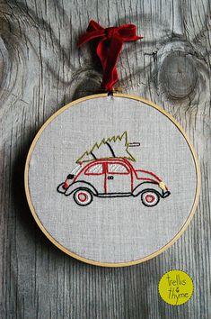 PDF Embroidery Pattern Merry Tree Lot Christmas by sosaecaetano