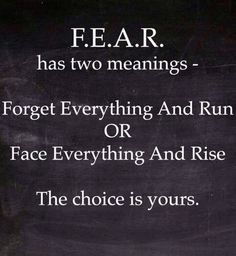 Fear. I'm going with the first option! More