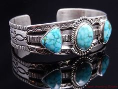 Perry-Shorty-Navajo-Turquoise-Sterling-Silver-Cuff-Bracelet