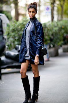 runwayandbeauty: Imaan Hammam - Milan Fashion Week Spring... (Riches for Rags)