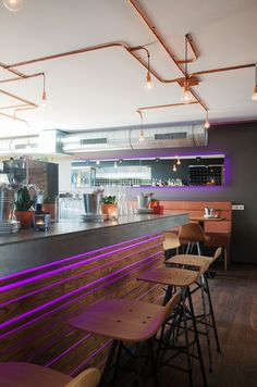 Spoinq barstools in restaurant Cabana, Hilvarenbeek.