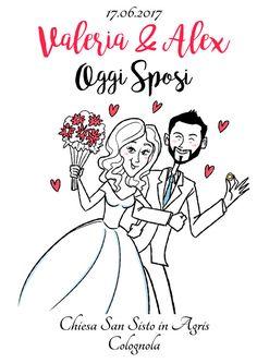 #illustration for #wedding #invitation - papirolandia.it #wedding
