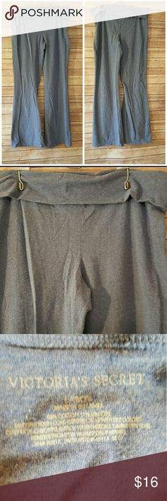 """Victorias Secret Lounge Pants Size Large Very gently worn. No rips, holes, spots or stains.   Cotton/Spandex blend  Waist 17""""  Length 39""""   Bundle pricing available  Items ship within 24 hours Victoria's Secret Intimates & Sleepwear Pajamas"""
