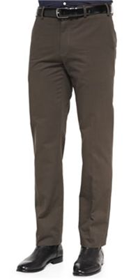 Classic Twill Trousers: Vince offers an awesome shade of medium brown that make these twill trousers an easy addition to your office or evening wardrobe.