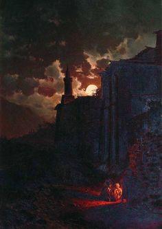 Moonlit Night, Ilya Nikolaevich Zankovsky. Russian (1832 - 1919) The North Caucasus.wordpress.com
