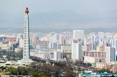 Tourists will fly past the Juche tower and May Day Stadium on the tour around capital, Pyongyang