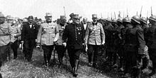 Marshal Joffre inspecting Romanian troops during WWI - Romania during World War I - Wikipedia, the free encyclopedia Military Personnel, Military Men, World War One, First World, Ww1 Soldiers, History Online, Austro Hungarian, Daylight Savings Time, Another World