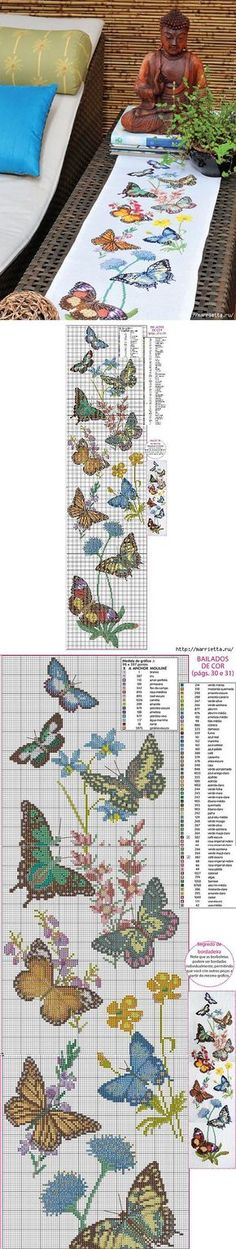 New Embroidery Patterns Butterfly Cross Stitch Ideas Butterfly Cross Stitch, Cross Stitch Bird, Cross Stitch Animals, Butterfly Pattern, Cross Stitch Flowers, Counted Cross Stitch Patterns, Cross Stitch Charts, Cross Stitch Designs, Cross Stitching
