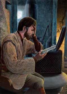 """When I see this, I see Obi-Wan in pain after killing his """"brother"""". He is staring at the lightsaber, wondering what to do with this. It just makes you think and want to cry. I might go do that now."""