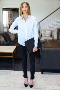White Shirt, Black Pants. Simple, Classic. Easy Work, Weekends.