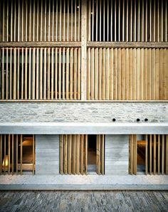 Detail - Timber/ Concrete/ Stone - Barn conversion, Soglio, Switzerland