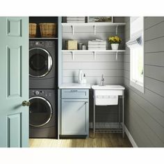 Laundry Room Layouts, Laundry Room Remodel, Laundry Room Bathroom, Laundry Room Organization, Laundry Room Design, Tiny Laundry Rooms, Laundry Tubs, Laundry In Kitchen, Organized Laundry Rooms
