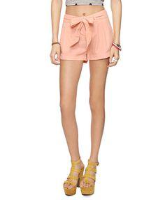 #4: Essential linen-blend shorts / F21 $13.50