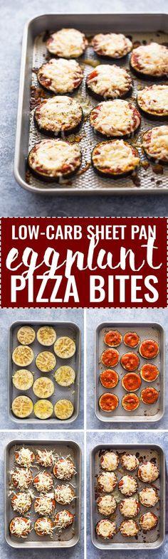 Low-Carb Eggplant Pizza Bites #LowCarbDietsAreTheySafe